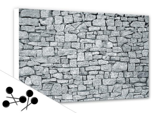 pinnwand granitmauer wall. Black Bedroom Furniture Sets. Home Design Ideas