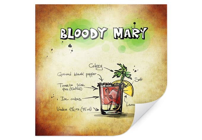 Poster Bloody Mary - Recipe