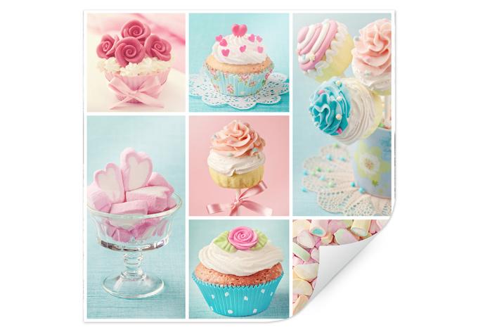 Poster cupcake collage wall - Tesa fensterfolie ...