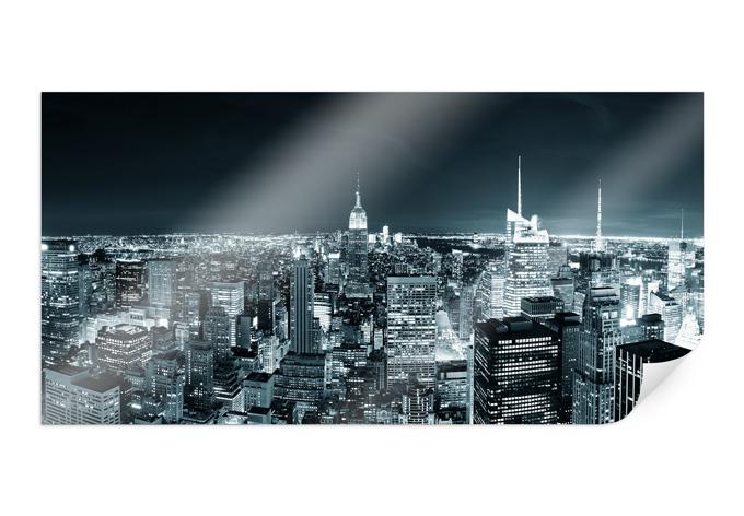 Poster New York at Night 02 - wall-art.nl