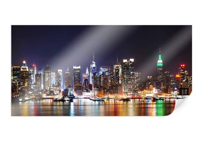 poster new york skyline wall. Black Bedroom Furniture Sets. Home Design Ideas