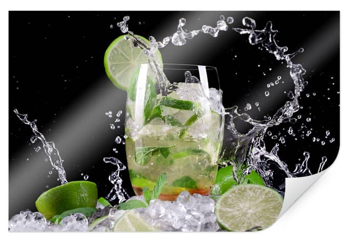 Poster Splashing Mojito