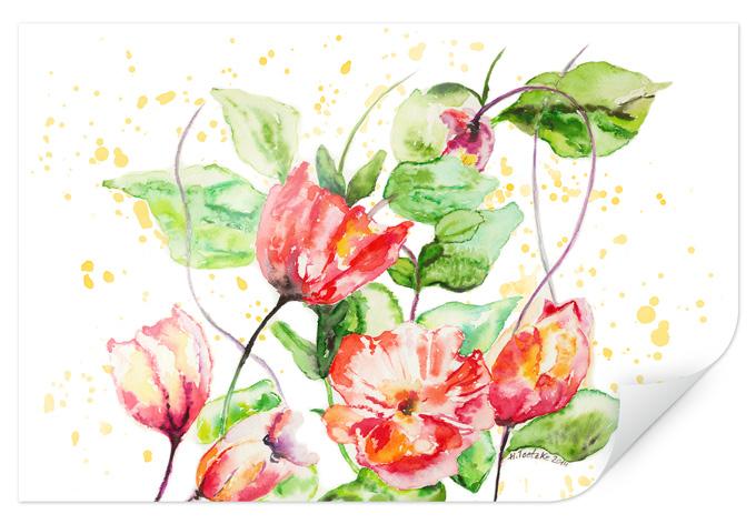 Poster toetzke gartenblumen wall - Tesa fensterfolie ...