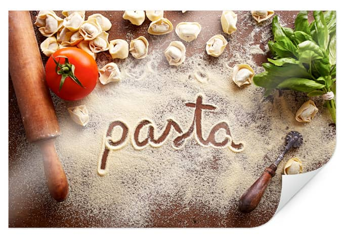 Italiaanse Keuken Teksten : Poster Pasta – Tortellini – wall-art.nl