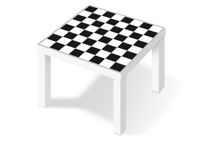 m belfolie f r ikea lack schachmuster schwarz wei. Black Bedroom Furniture Sets. Home Design Ideas