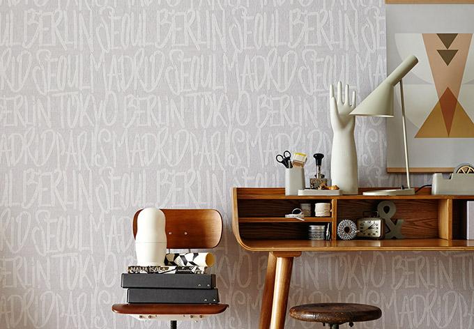 sch ner wohnen vliestapete creme grau wall. Black Bedroom Furniture Sets. Home Design Ideas