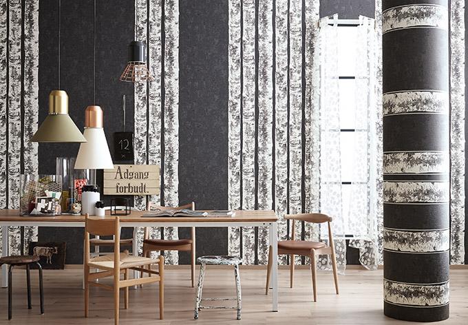 sch ner wohnen vliestapete schiefergrau verkehrswei silberfarben wall. Black Bedroom Furniture Sets. Home Design Ideas