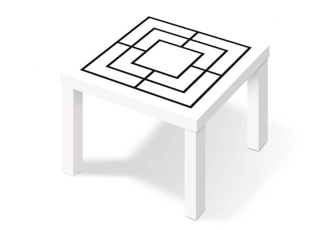 Kleeffolie Molenspel Zwart Wit voor IKEA - wall-art.nl