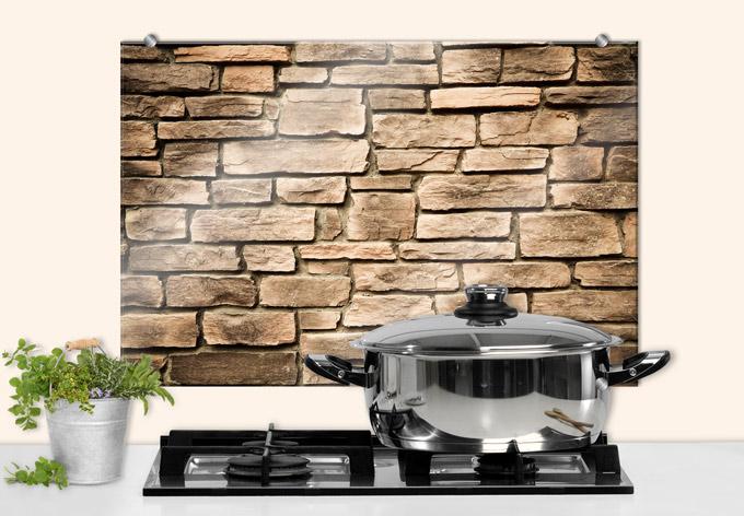 spritzschutz italian stonewall perfekt f r die k che. Black Bedroom Furniture Sets. Home Design Ideas