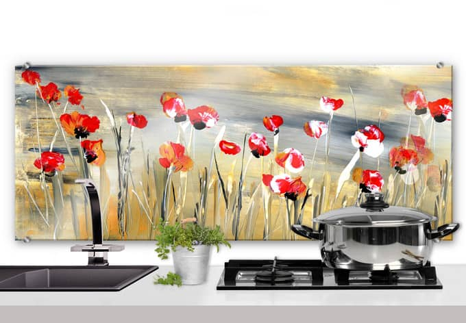spatscherm niksic bloemenweide panorama wall. Black Bedroom Furniture Sets. Home Design Ideas
