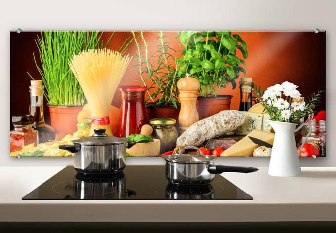 pannello paraschizzi cucina italiana panoramica wall On pannello paraschizzi cucina