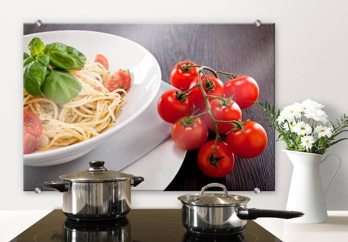 Italiaanse Keuken Teksten : Spatscherm Italiaanse Pasta – wall-art.nl