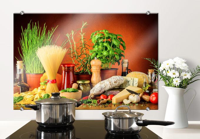 Italiaanse Keuken Teksten : Spatscherm Italiaanse Keuken – wall-art.nl
