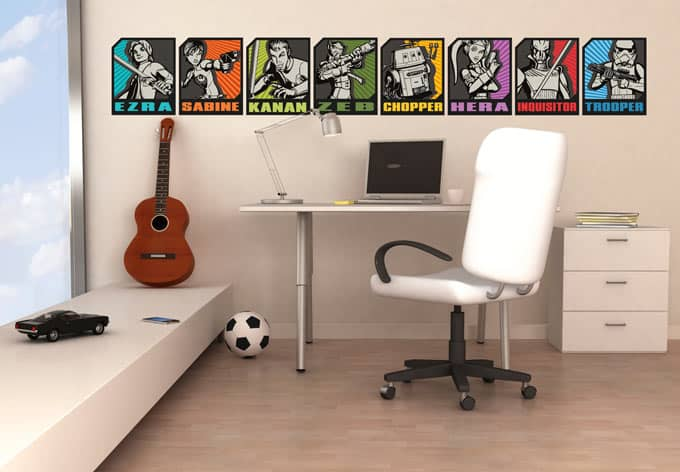 wandtattoos von star wars star wars rebels set wall. Black Bedroom Furniture Sets. Home Design Ideas
