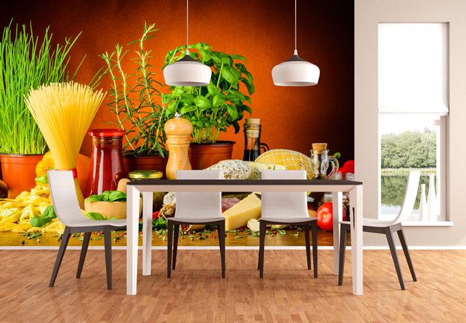 Fotobehang In De Keuken : Fotobehang Italiaanse Keuken – wall-art.nl