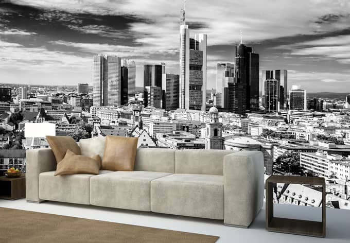 fototapete vliestapete frankfurter skyline exklusiv aus der wall art kollektion wall. Black Bedroom Furniture Sets. Home Design Ideas