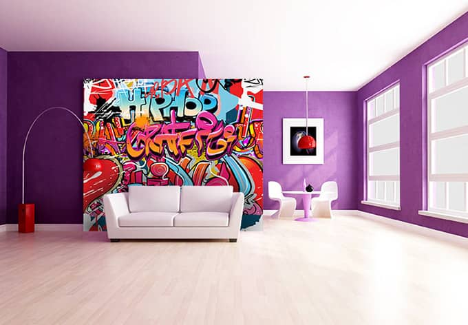 fototapete graffiti hip hop von k l wall art wall. Black Bedroom Furniture Sets. Home Design Ideas