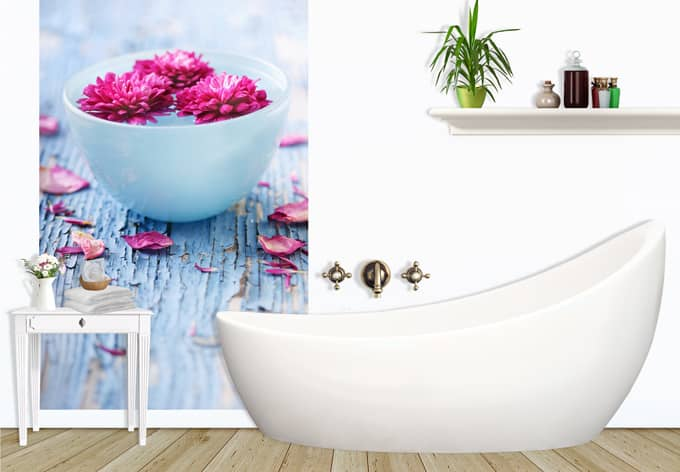 Selbstklebende Tapete Wellness : Hochwertige Fototapete Wellness Ambiente wall-art.de