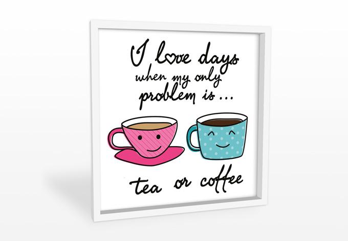 Hartschaum wandbild tea or coffee wall for Tea and coffee wall art