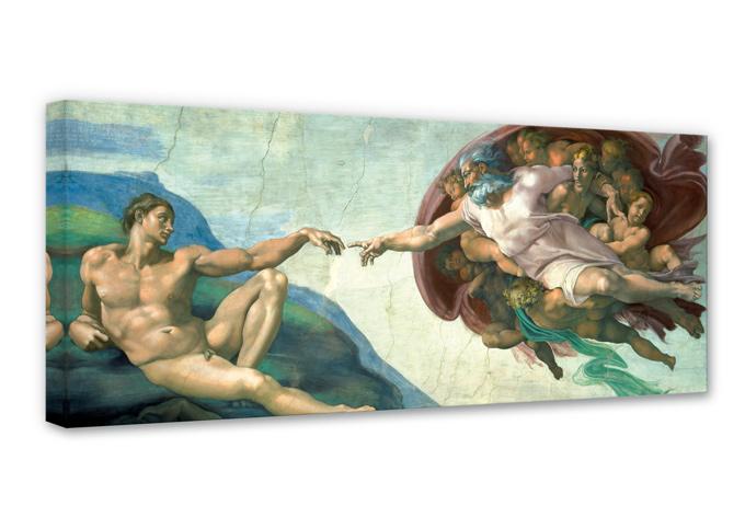 Leinwandbild Michelangelo - Die Erschaffung des Adam