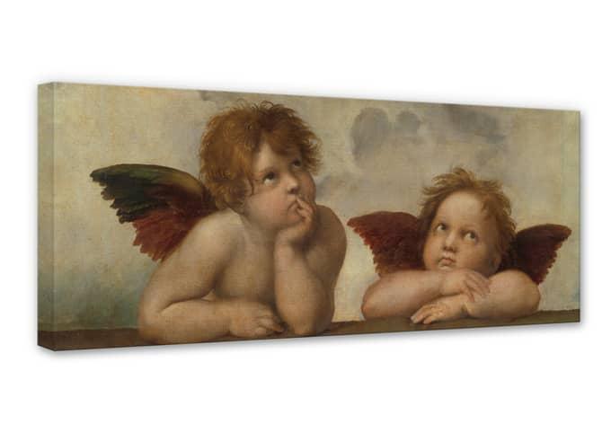 Leinwandbild Raffael - Zwei Engel