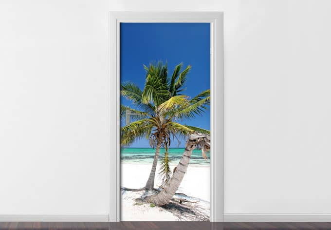 stickers de porte palmier wall. Black Bedroom Furniture Sets. Home Design Ideas