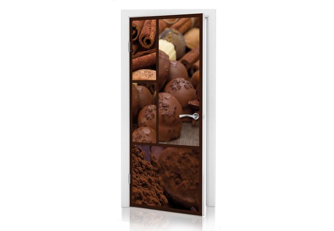 Adesivi per porte sogno di cioccolato wall - Pellicole adesive per porte ...