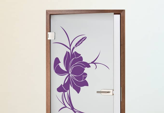 stickers de porte fleur d 39 asie wall. Black Bedroom Furniture Sets. Home Design Ideas
