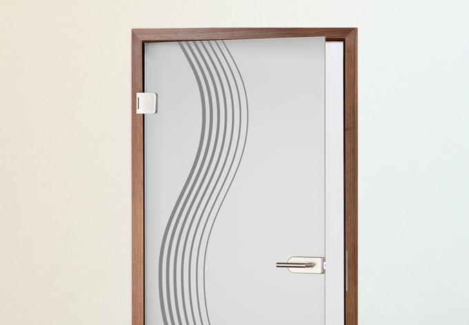 Adesivi per porte onda stilizzata wall - Porte decorate adesivi ...