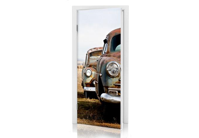 Adesivi per porte macchine d 39 epoca arruginite wall - Pellicole adesive per porte ...