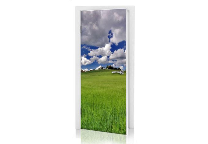 Adesivi per porte prato wall - Pellicole adesive per porte ...