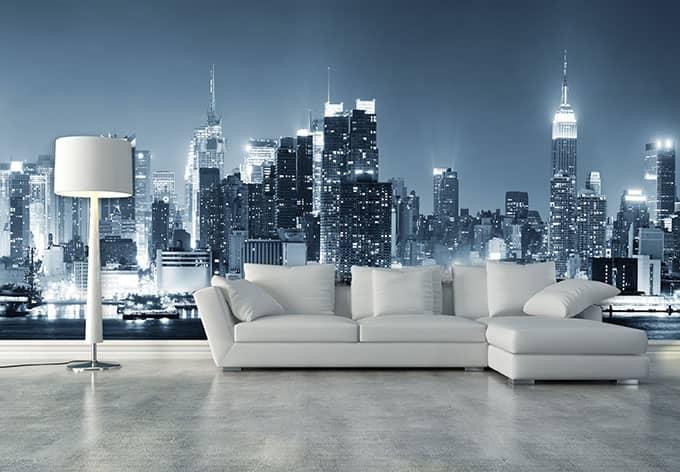 vliestapete new york at night 1 exklusiv aus der wall art kollektion wall. Black Bedroom Furniture Sets. Home Design Ideas