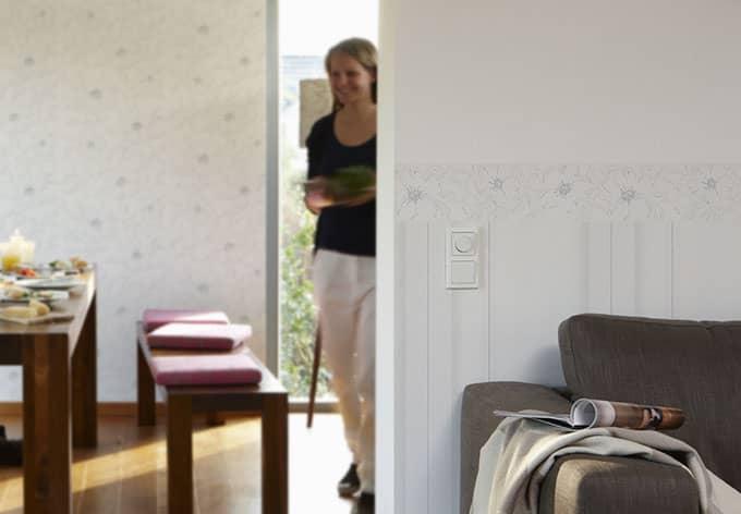 sch ner wohnen vliestapete signalwei verkehrswei. Black Bedroom Furniture Sets. Home Design Ideas