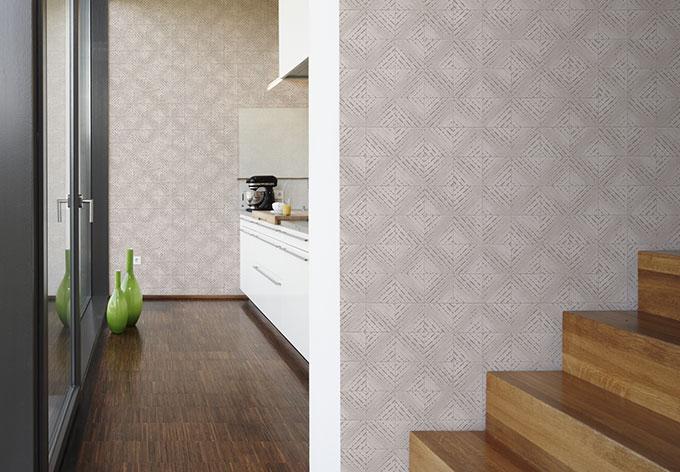 sch ner wohnen steinoptik tapete seidengrau signalwei wall. Black Bedroom Furniture Sets. Home Design Ideas