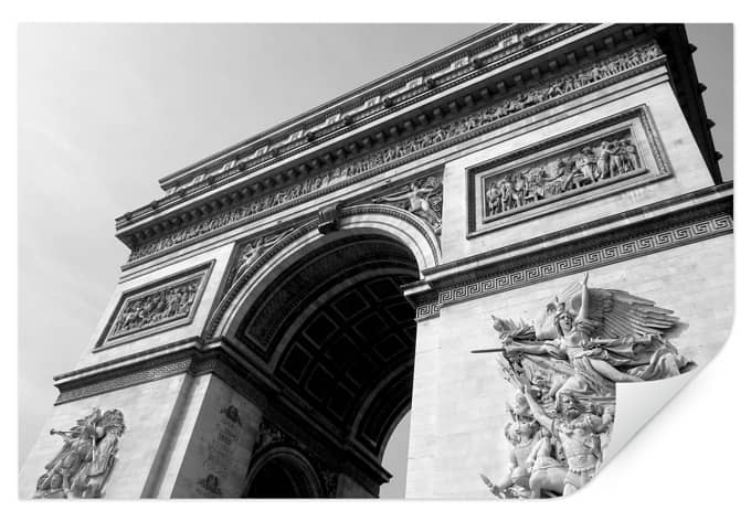 Wall print arc de triomphe wall for Arc de triomphe wall mural