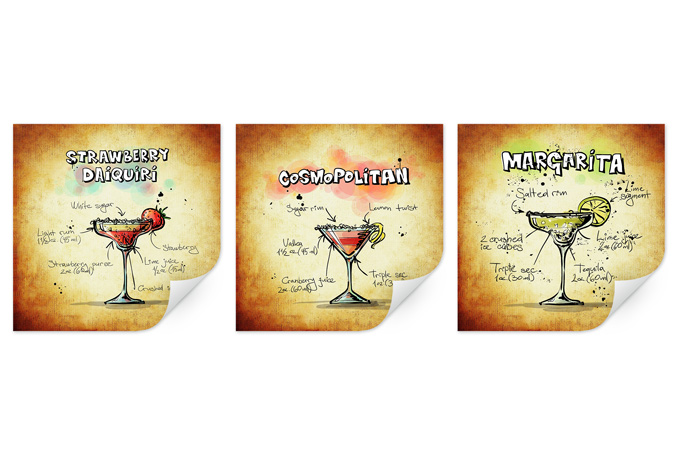 Muurprints Cocktails Set 01 (3-delig) - wall-art.nl