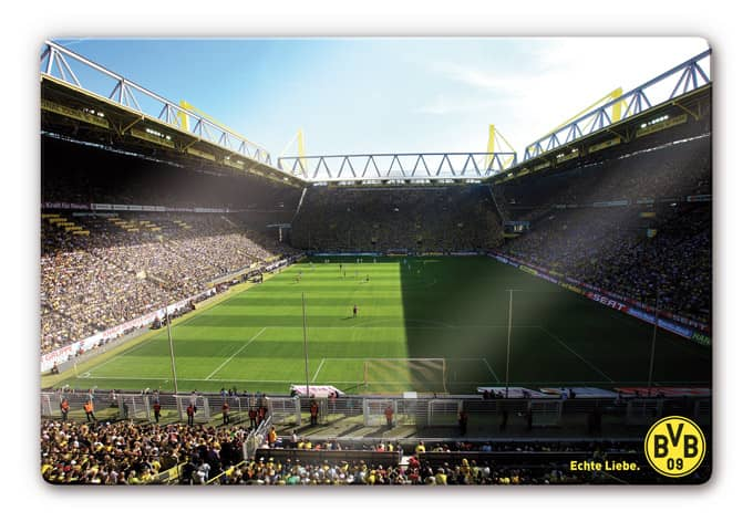 glasbild signal iduna park wandbild mit bvb stadion. Black Bedroom Furniture Sets. Home Design Ideas