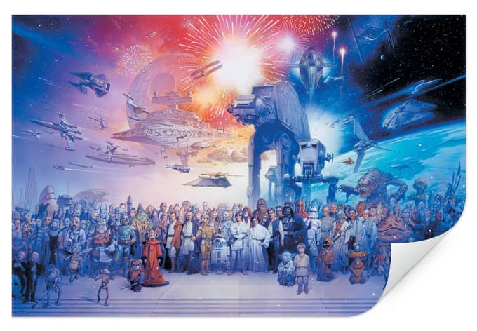 Wallprint W - Star Wars Mega Collage