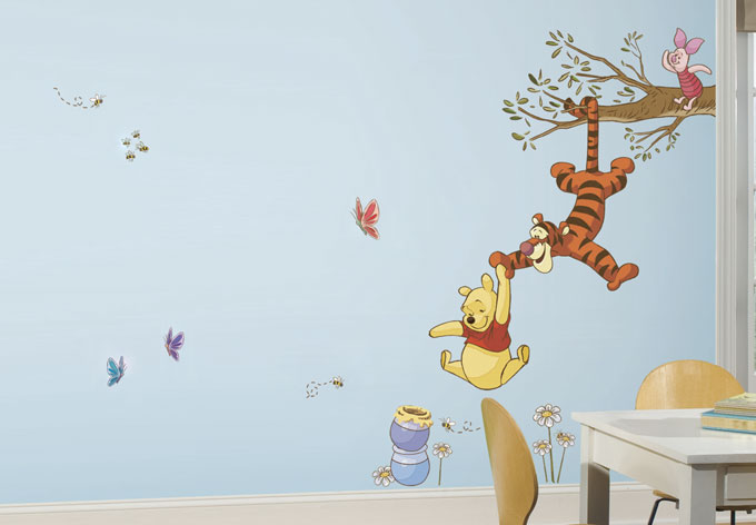 wandsticker winnie puuh kletterspa wall. Black Bedroom Furniture Sets. Home Design Ideas