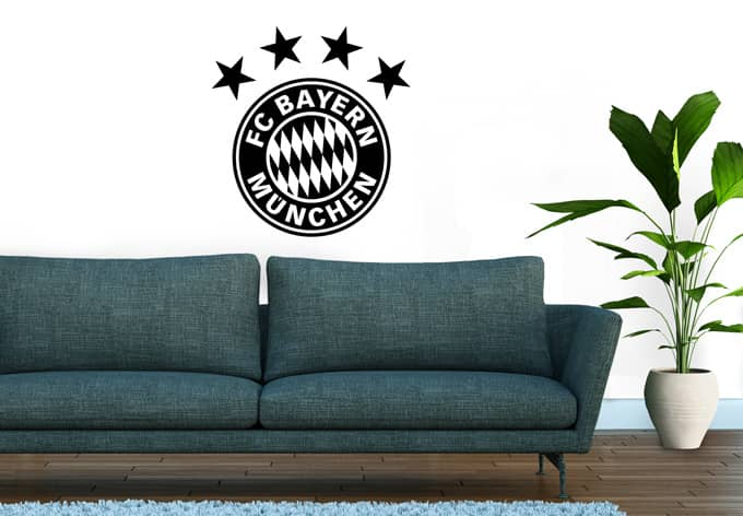 fc bayern m nchen logo uni original fcb wandtattoos wall. Black Bedroom Furniture Sets. Home Design Ideas