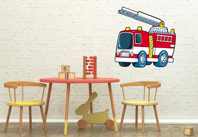 fire truck wall sticker wall art com red fire engine wall sticker fire truck wall decal boys