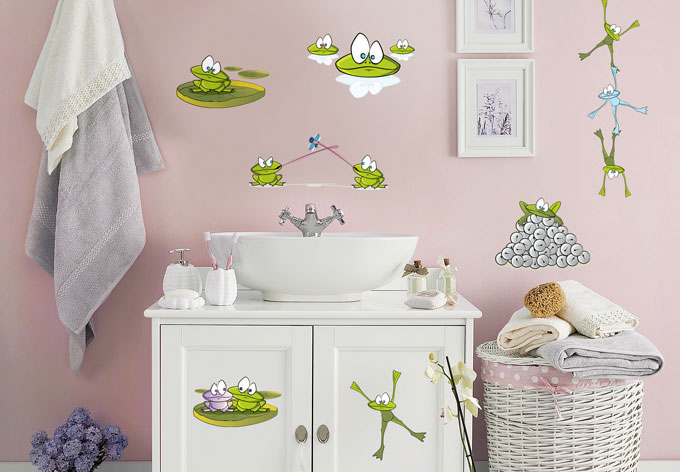 frog set wall sticker wall art com wall decals frogs wall stickers