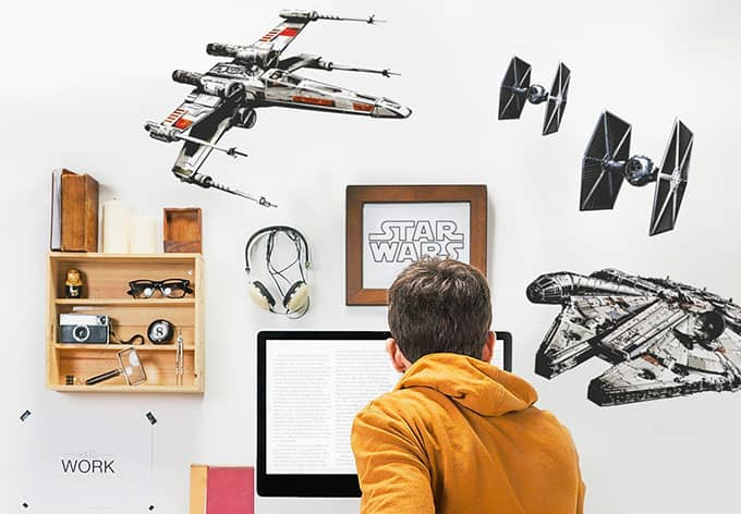 wandsticker star wars raumschiffe 14723h wall. Black Bedroom Furniture Sets. Home Design Ideas