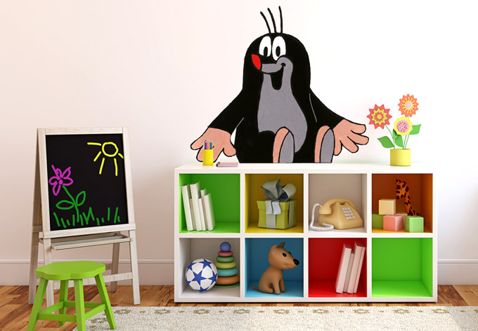 wandtattoo der kleine maulwurf 2 wandaufkleber der kleine maulwurf wall. Black Bedroom Furniture Sets. Home Design Ideas