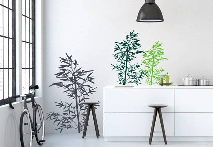 sticker mural bambou sauvage wall. Black Bedroom Furniture Sets. Home Design Ideas