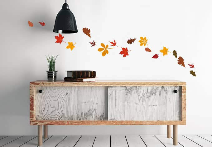 Wandtattoo Blätter Set Herbst 2