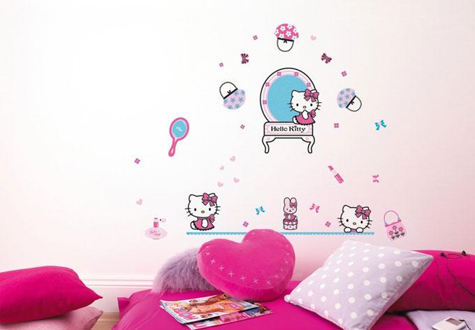 hello kitty wall sticker set wall art com