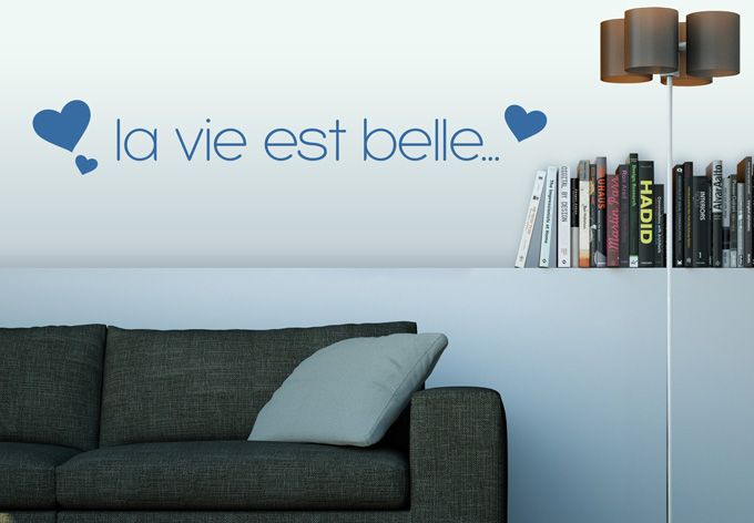 Wall art words wooden - La Vie Est Belle 2 Wall Wall Art Com