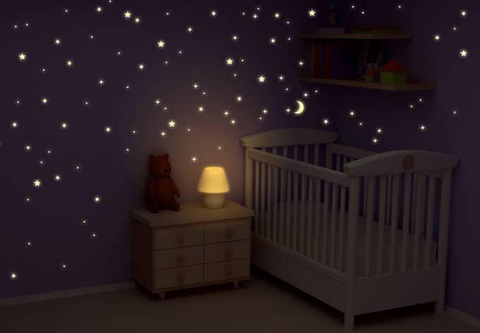 Vorhange Kinderzimmer Pirat : 71  Leuchtsterne Sternenhimmel  100250 Stk leuchtende Sterne wall