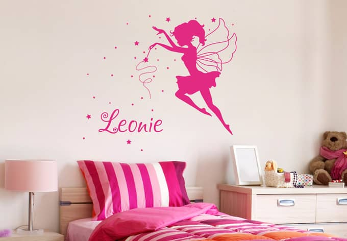 Fairy name wall sticker wall - Stickers geant chambre fille ...